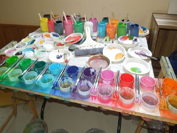 Action painting- Kreativkurs